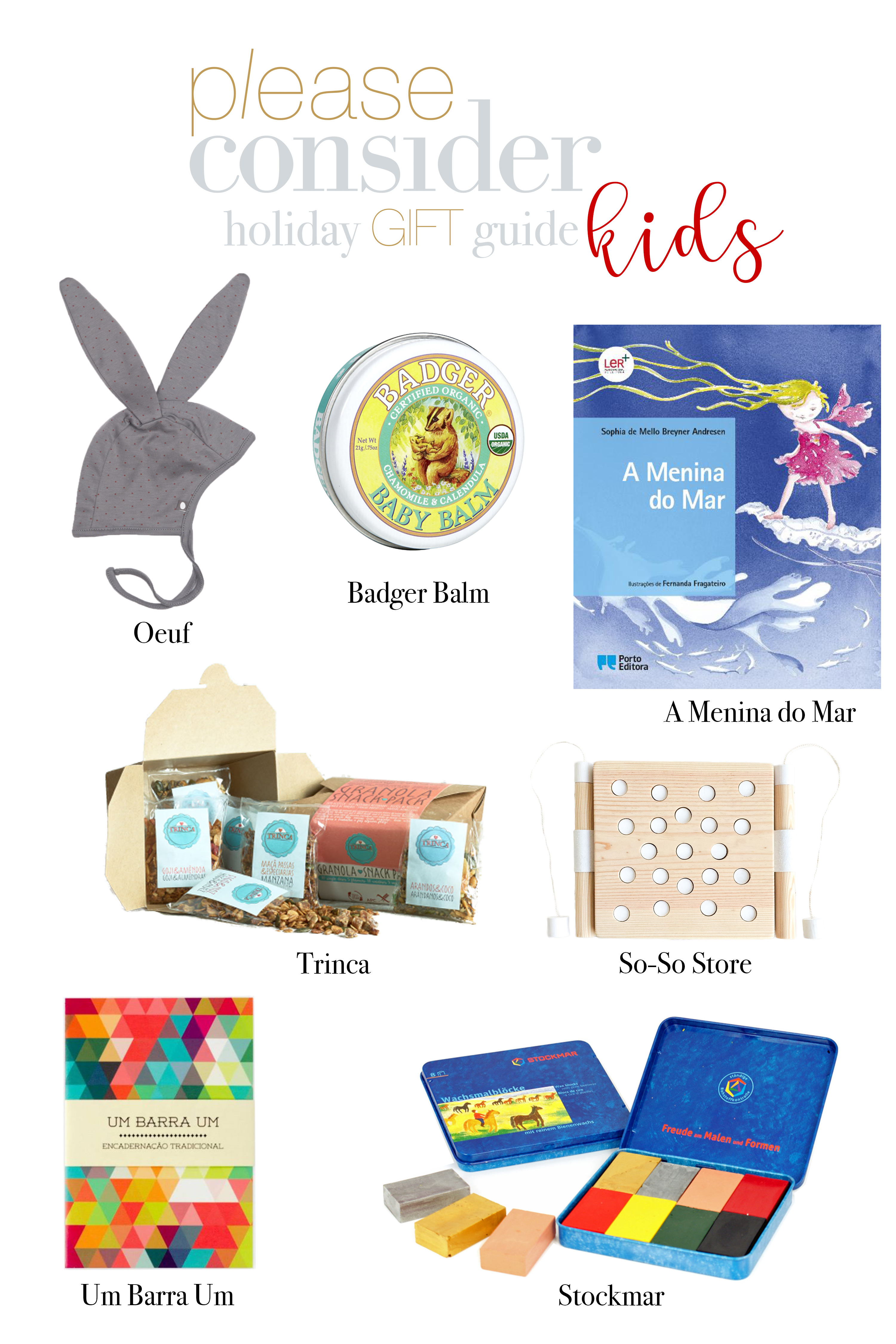 holiday gift guide for the kids | please consider | joana limao