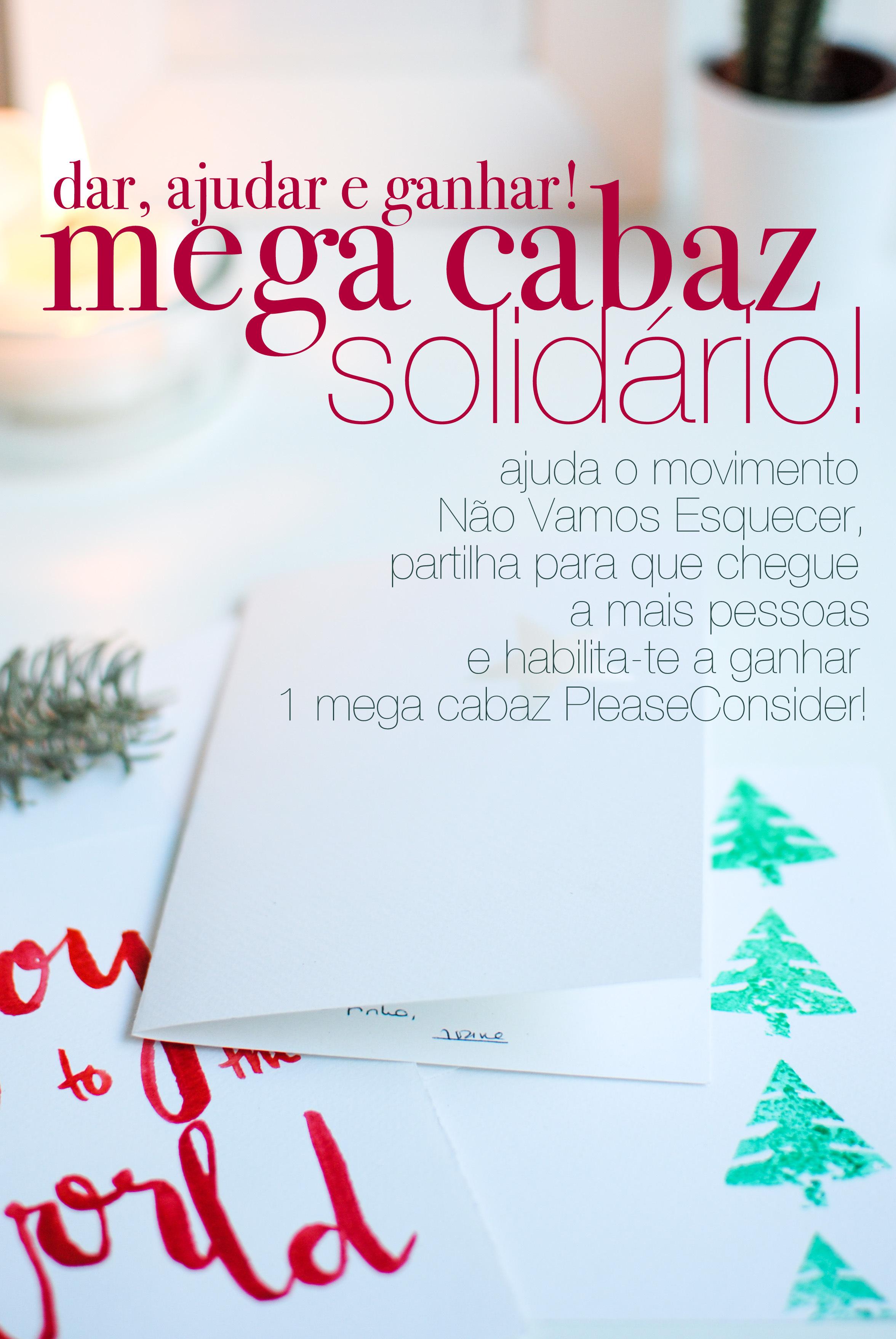 mega cabaz solidário | please consider | joana limao