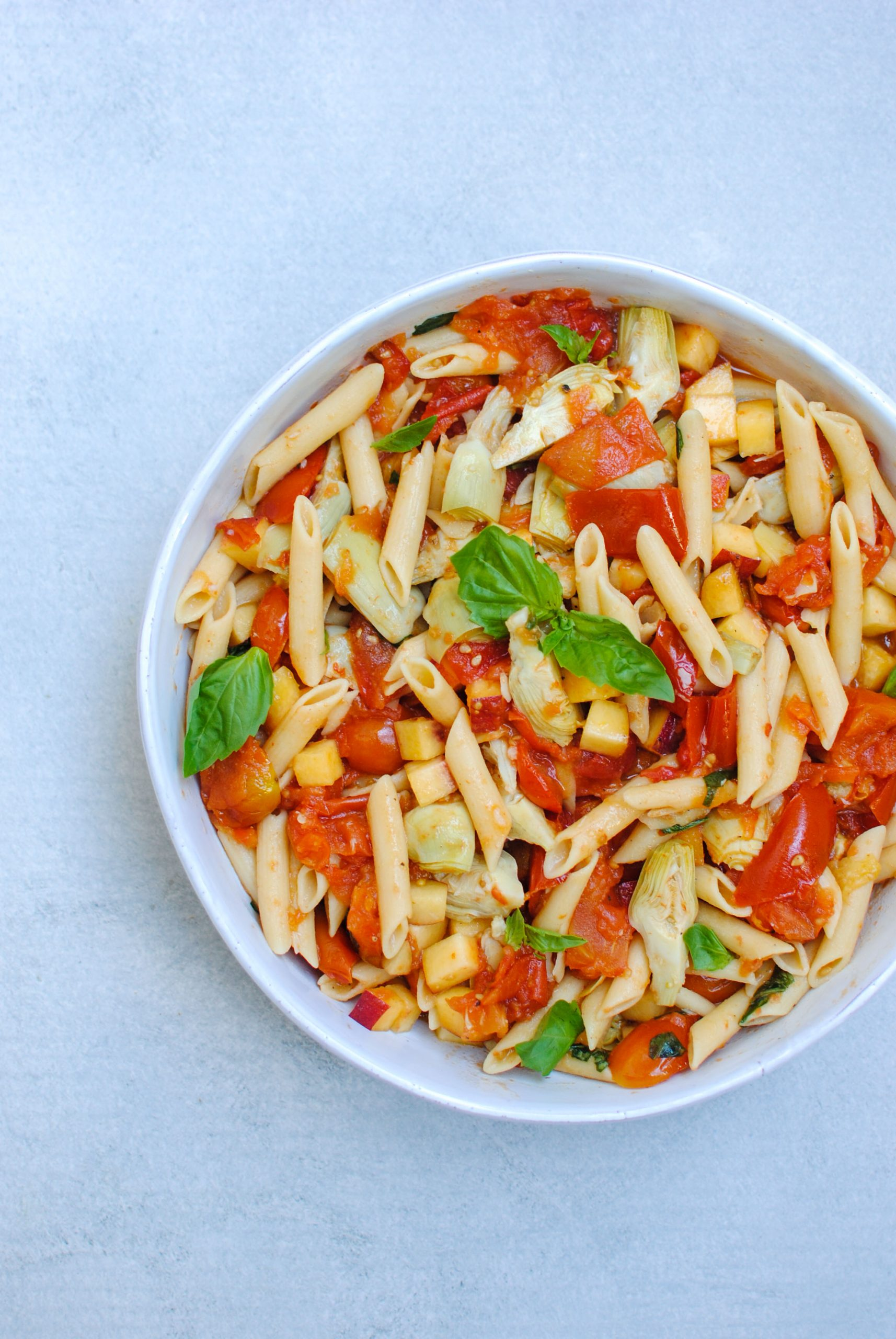 roast tomato chickpea pasta | please consider | joana limao