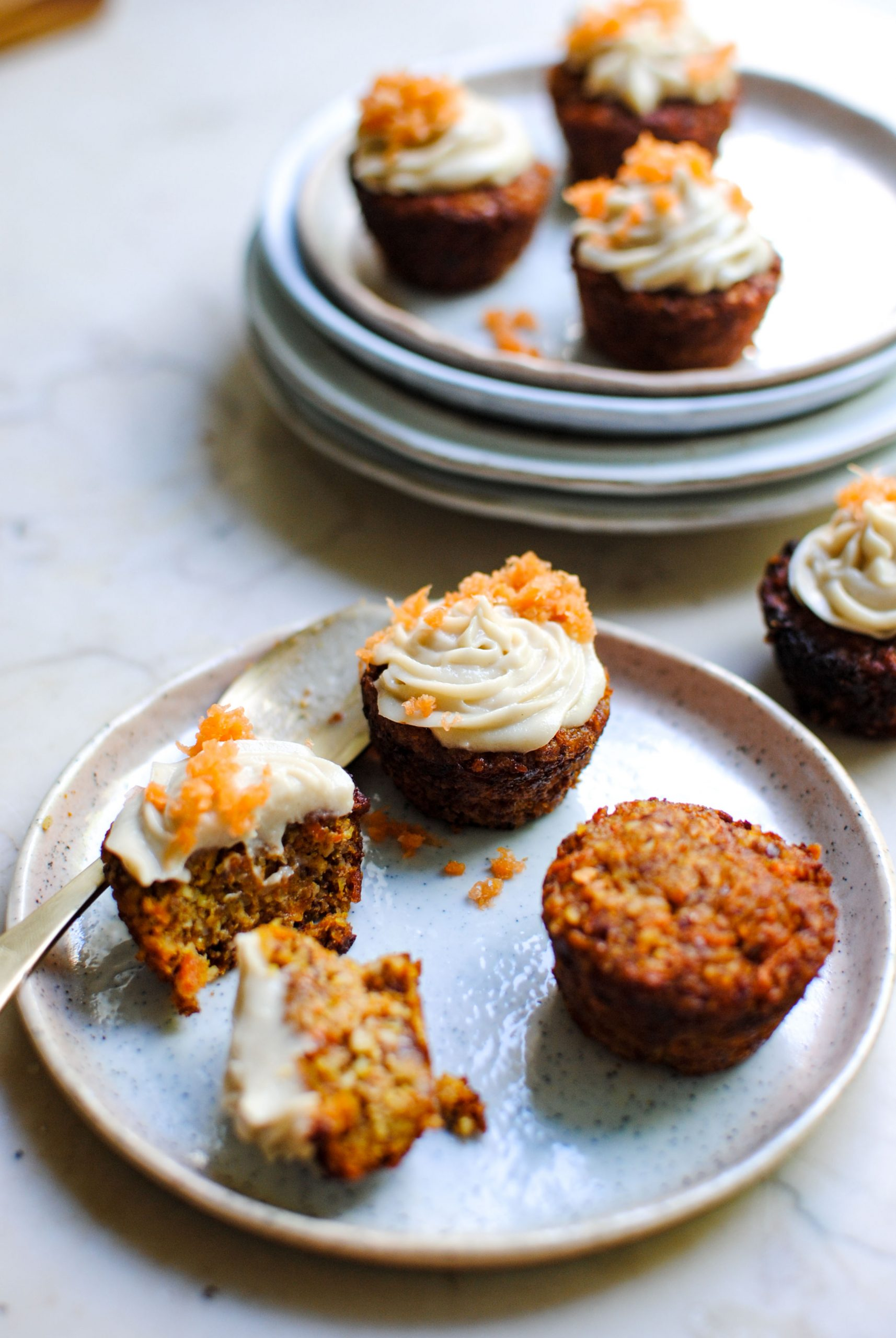 vegan carrot muffins with lemon frosting | please consider | joana limao