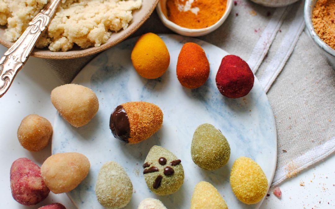 All Natural Lemon-Coconut Easter Eggs