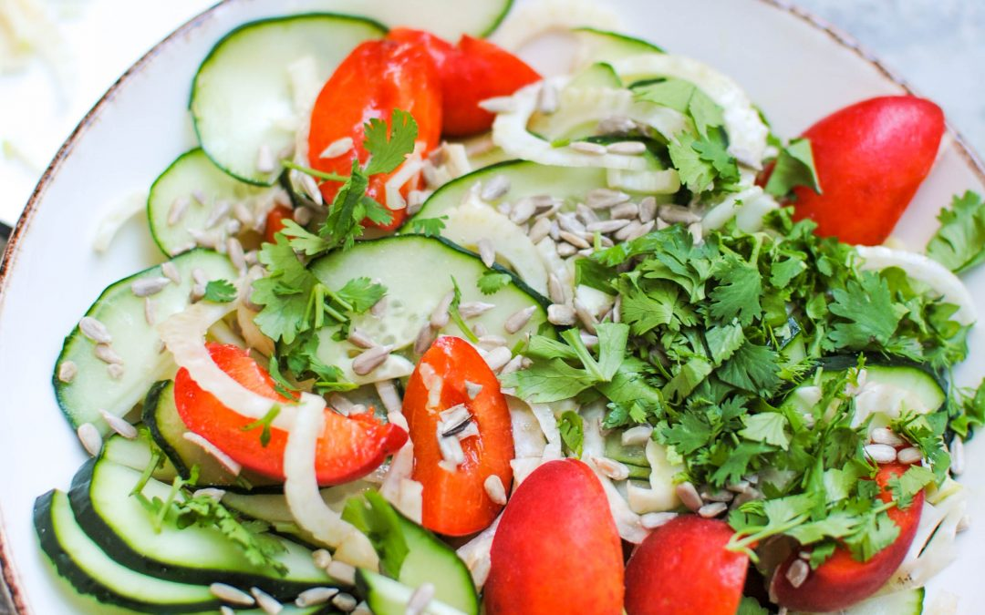 Apricot, Fennel and Cucumber Salad