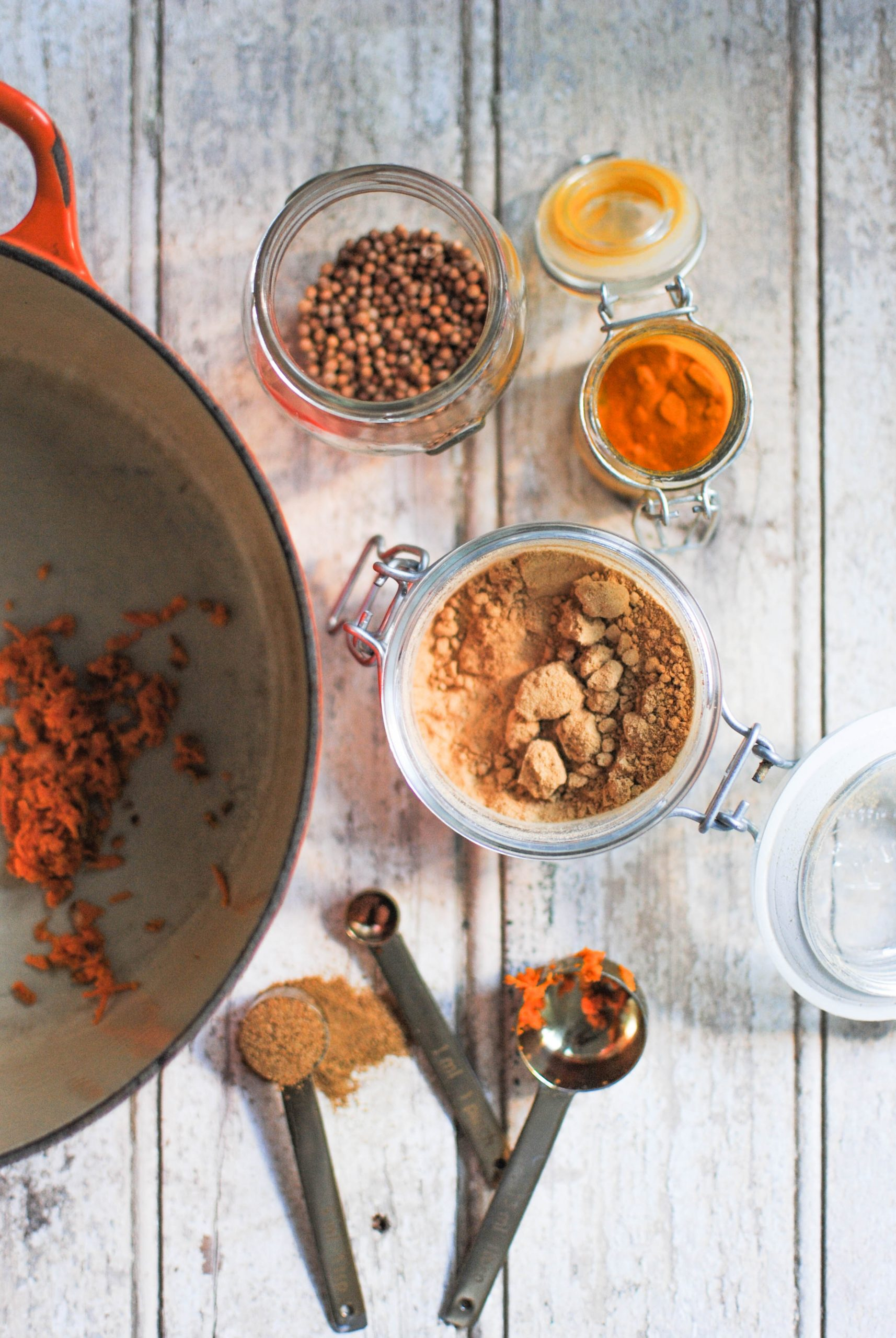 delicious aromatic spices to toast for a curry sauce