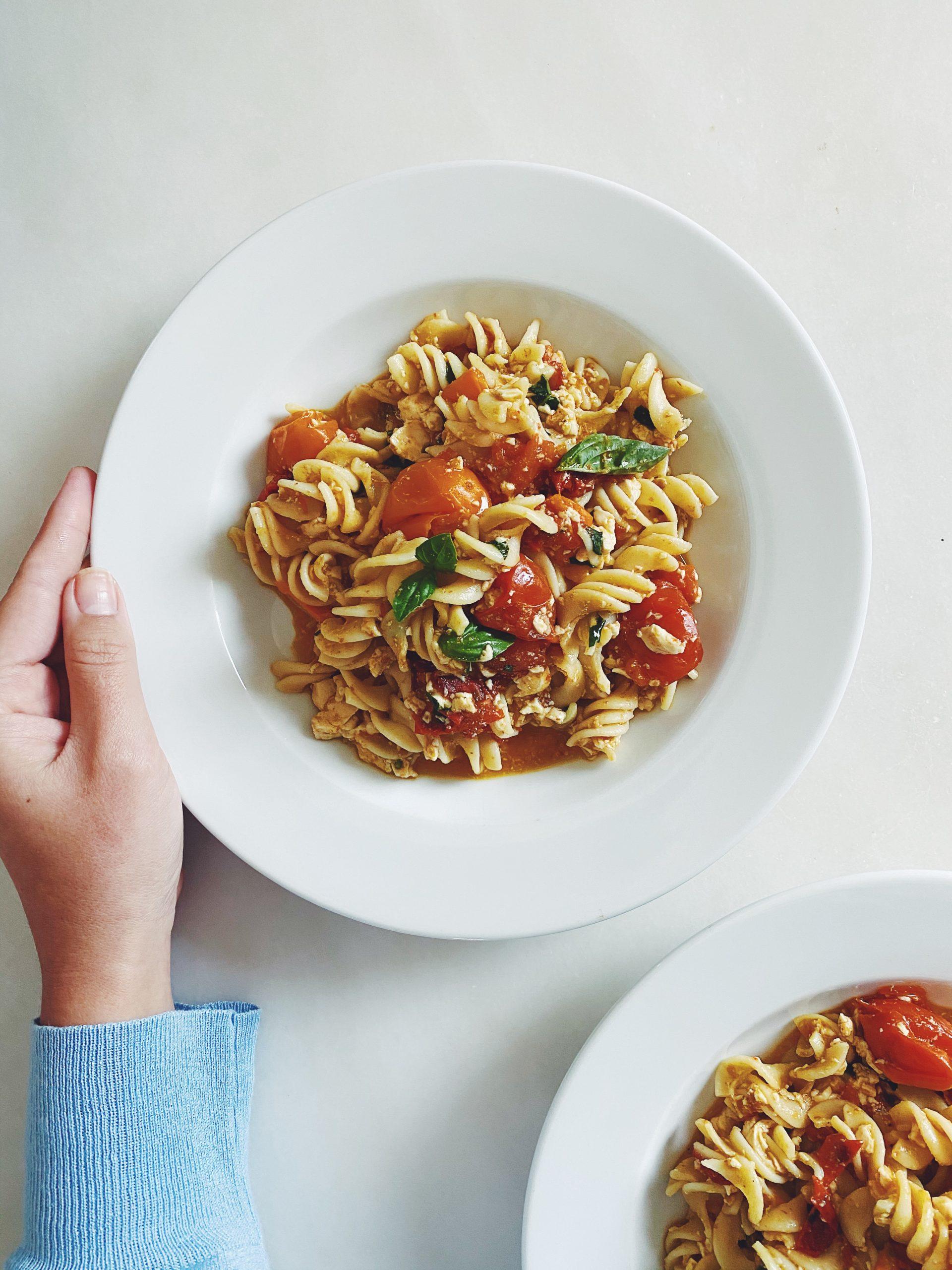 viral vegan feta pasta | please consider | joana limao