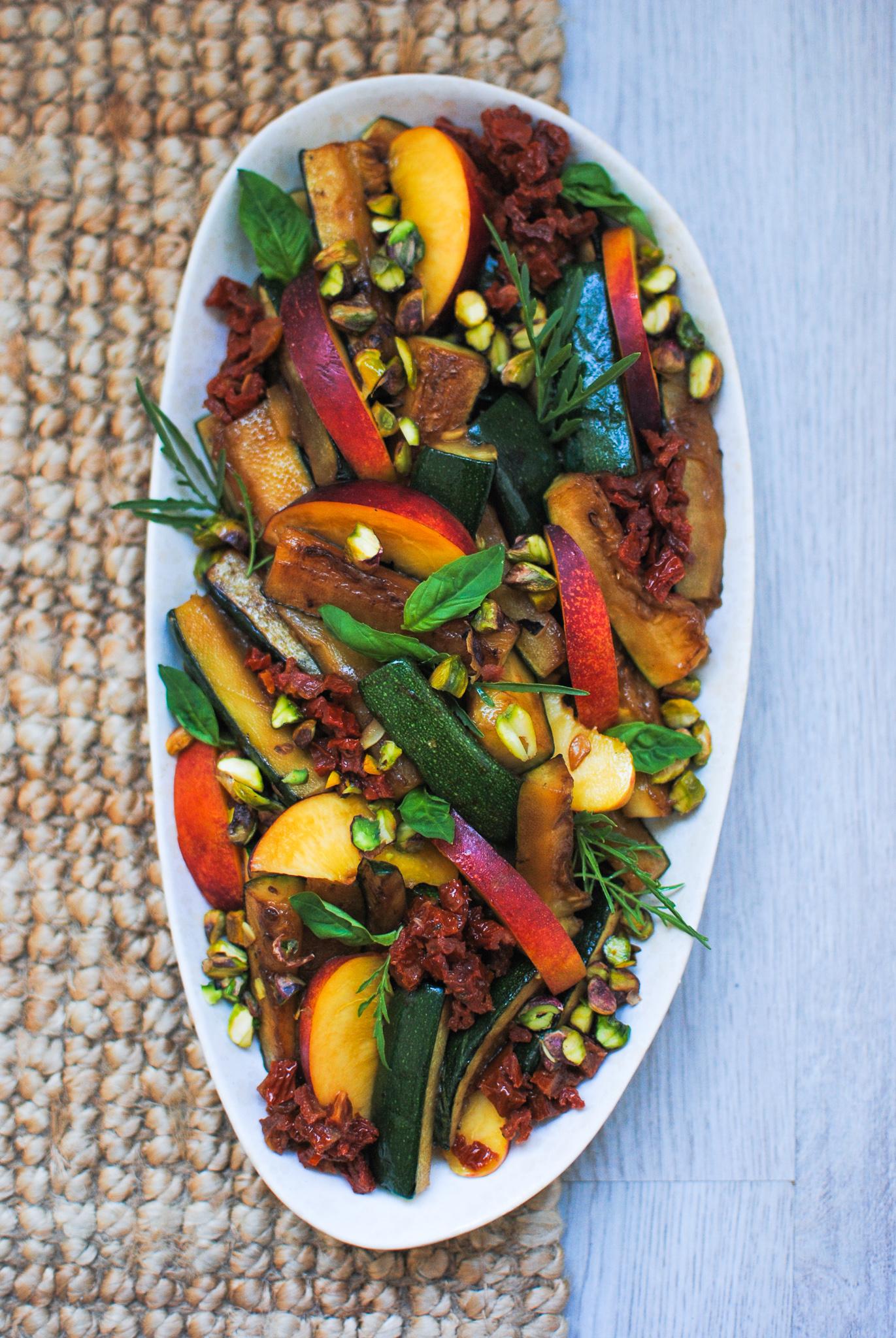 grelhada, nectarina e tomate seco   please consider   joana limao
